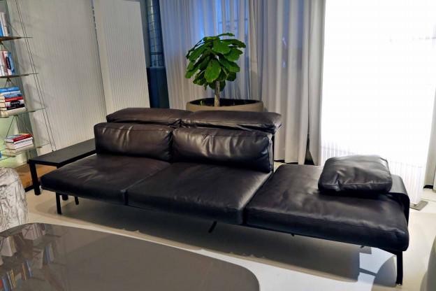 Cassina Sofa 288 Sled Leder Pelle Farbe Cafe Designermöbel
