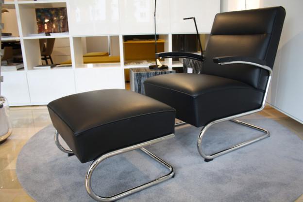 Sessel mit Fußhocker S 412 - S 411 H