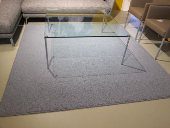 Teppich Pure 2 x 2 m, Wolle hellblau-grau von Jab