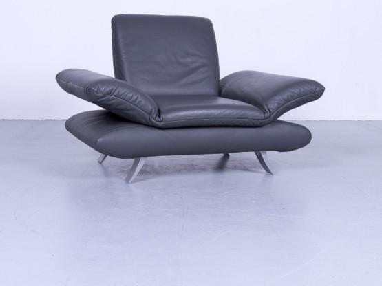 Koinor Rossini Designer Leder Sessel Anthrazit Schwarz Einsitzer Echtleder Funktion #5335