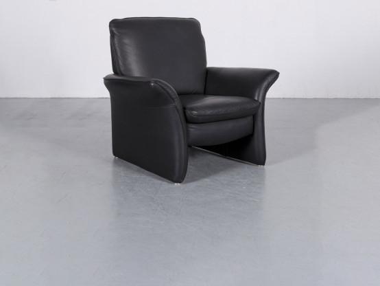 Musterring Leder Sessel Schwarz Einsitzer Stuhl Echtleder 6006