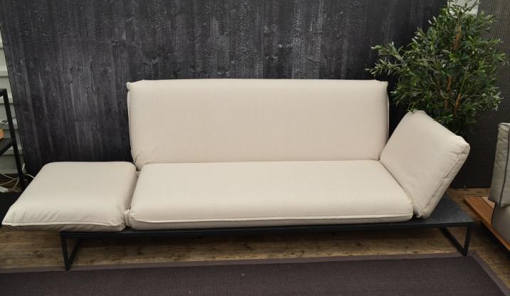 Gartensofa Flora Lounge fischer möbel creme/anthrazit Edelstahl