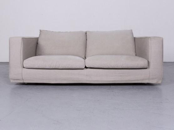 B&B Italia Basiko Designer Stoff Sofa Grau Zweisitzer Couch #6611