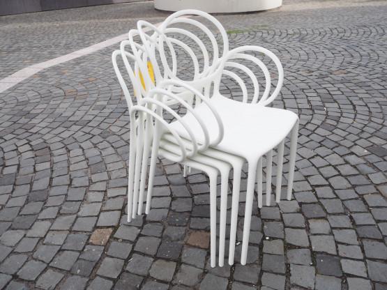 DRIADE 4er Set Stuhl Sissi weiß