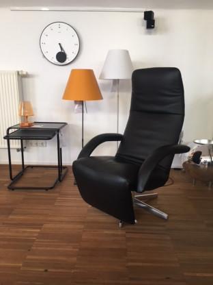 Yoga Sessel Leder schwarz