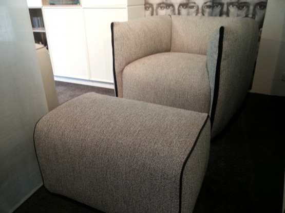 MDF Italia - Drehbarer Sessel mit Hocker
