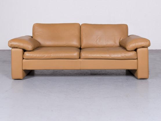 Cor Conseta Designer Leder Sofa Beige Echtleder Zweisitzer Couch