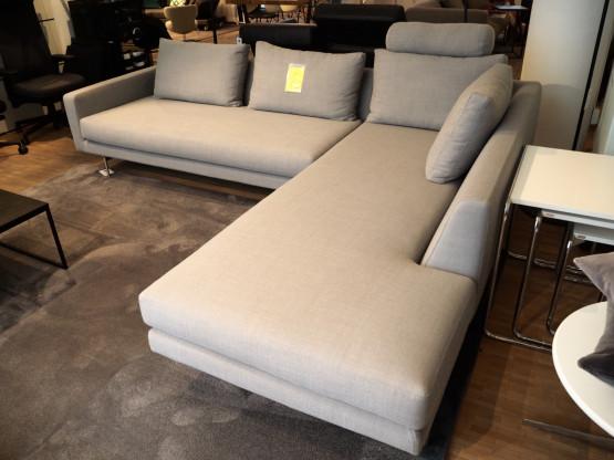 2 Sofa | Wendelbo Sofa Edge 2 Stoff Grau Designermobel Mainz
