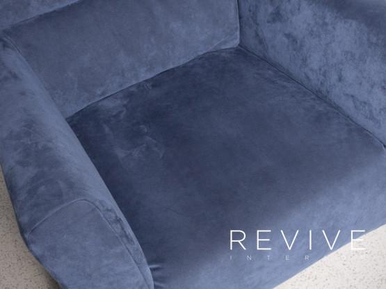 Rolf Benz 322 Designer Stoff Sessel Blau Stuhl 7696 Designermöbel