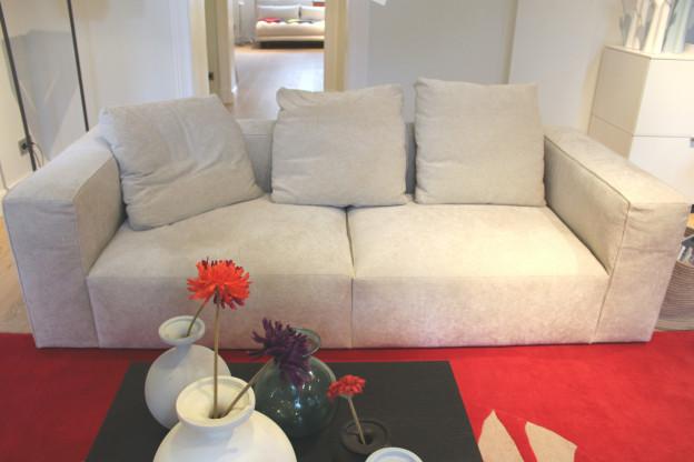 Sofa NILS - harmonischer & ausgewogener 3-Sitzer in Litz Beige
