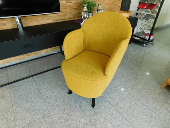 Brühl Sessel floret, Möbelstoff gelb