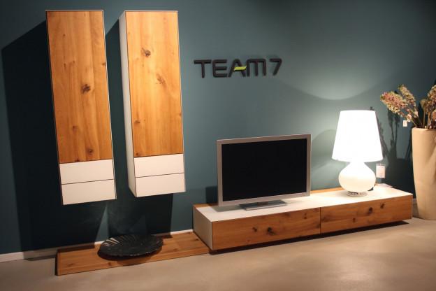 Team7 wohnwand cubus pure designerm bel f rth for Wohnwand team 7