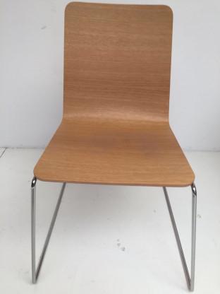 5 xTIPO Stuhl Chromkufe / Holzschale Eiche