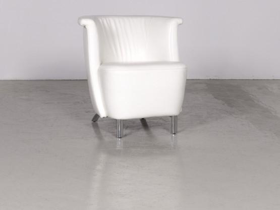 Koinor Infinity V Designer Leder Sessel Weiß Echtleder Stuhl 7348