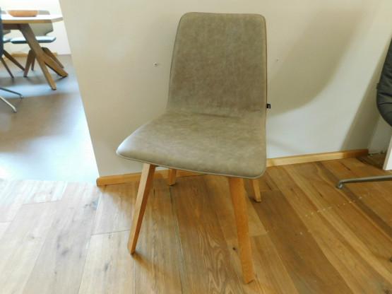 KFF, Stuhl MAVERICK ohne Armlehne, Leder schlamm grau
