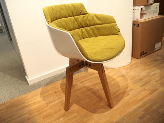 MDF ITALIA Flow Chair Slim weiß Eiche massiv