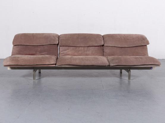 Saporiti Italia Wave Designer Ziegenleder Sofa Dreisitzer Couch #6258