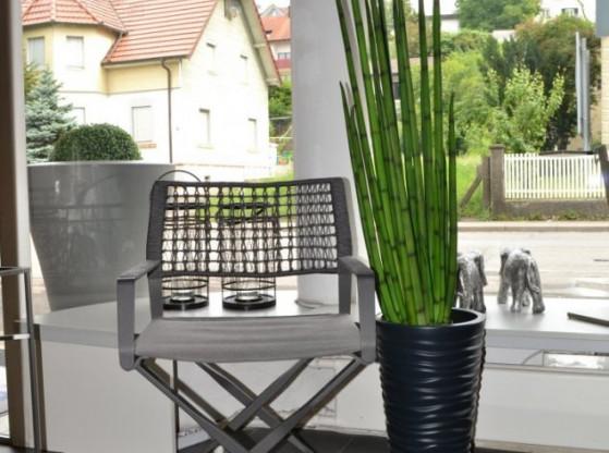 Gartenstühle (2 Stück) Regista Tribu grau Aluminium Geflecht