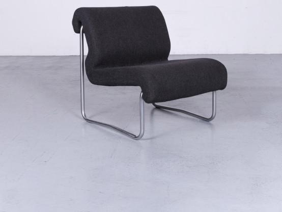 Fröscher Sitform Jürgen Lange Designer Sessel Stoff Grau Stuhl Einsitzer Modern #3057