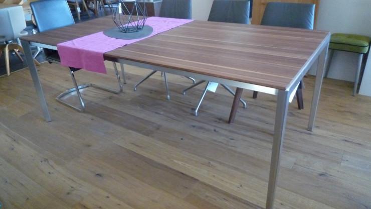 Team 7 Tisch Tak mit Auszug, Auszug-Tisch, Nussbaum