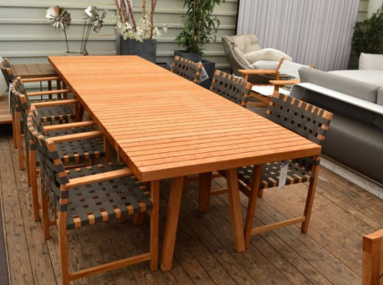 Gartentisch Vis a Vis Tribu anthrazit Holz