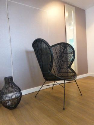 Armchair Laila Black Rattan von Lifestyle Home Collection | Designermöbel  Aachen