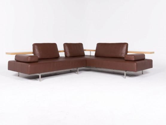 Rolf Benz Dono Designer Leder Ecksofa Braun Echtleder Sofa Couch