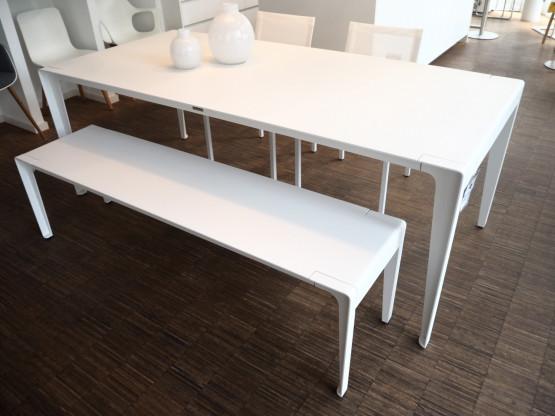 TRIBU Tischgruppe Mirthe Natal weiß Aluminium