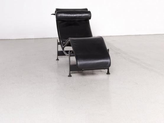 Cassina Le Corbusier LC 4 Designer Leder Liege Schwarz Echtleder ...