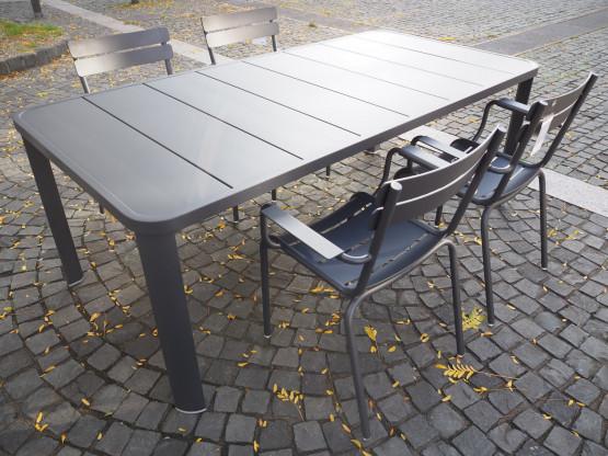 FERMOB Tischgruppe Luxembourg Olèron anthrazit