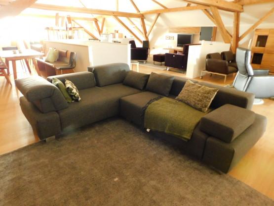 Brühl Sofa FIELDS mit Möbelstoff grau-Ton