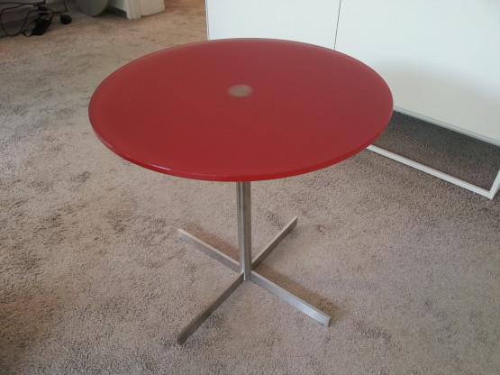 Beistelltisch LIDO von DREIECK DESIGN, Glas in rot