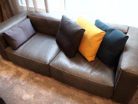 HAY Sofa Mags Soft Leder 2,5 Sitzer