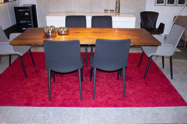 Teppich Dakota von Kinast, 200x300 cm, Wolle und Leinen rot