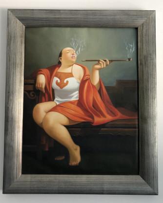 Orginal Öl-Gemälde auf Leinwand 70x85 China Motive