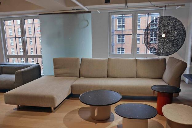 Edra | Sofakombination | Stoff |Farbe grau/beige | 370 cm