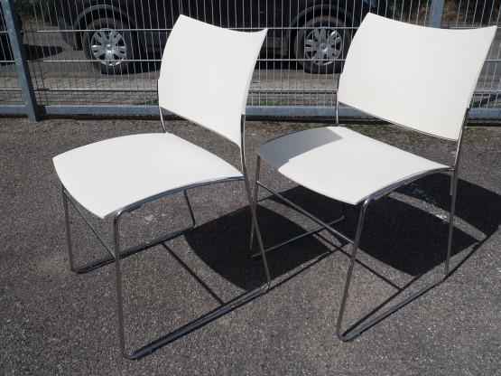 CASALA 2x Stuhl Curvy weiß - Setpreis - wie NEU!