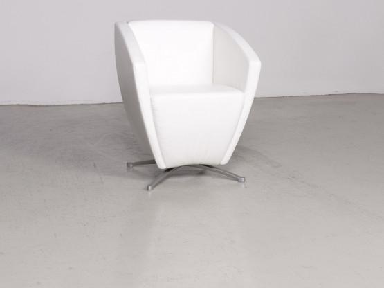 Rolf Benz Designer Leder Sessel Weiß Echtleder Stuhl 7508