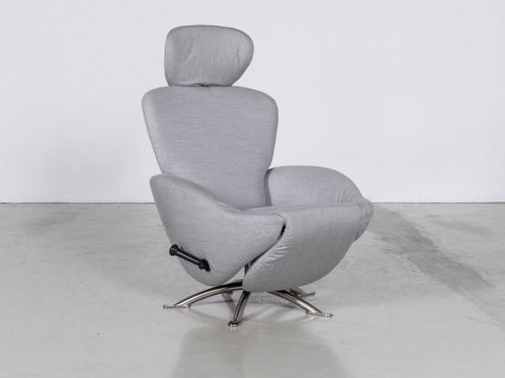 Cassina Dodo Stoff Sessel In Grau Meliert By Toshiyuki Kita
