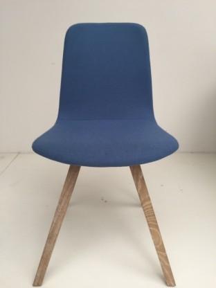 2 x[more] DAC Stuhl, Polsterschale blau