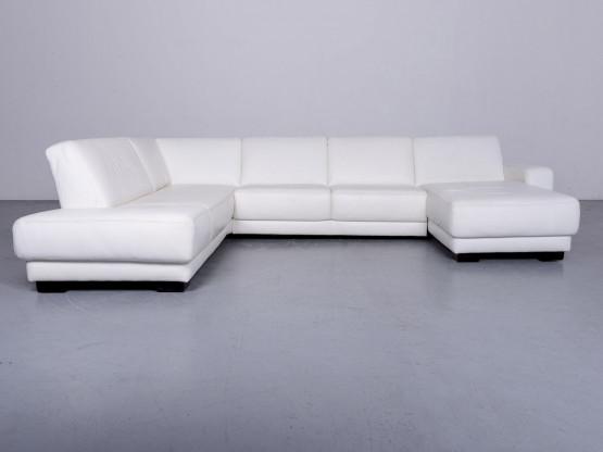 Koinor Designer Leder Sofa Weiß Echtleder Ecksofa Couch 6519