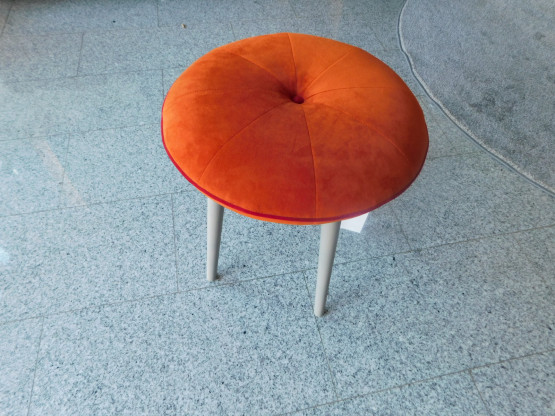 Signet, Hocker, Sulo, Stoff Milan orange