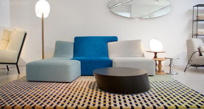 ligne roset teppich modell entrelacs blau designerm bel m nchen. Black Bedroom Furniture Sets. Home Design Ideas
