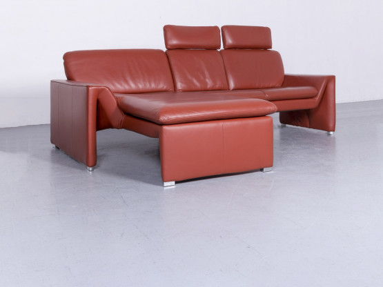 Laauser Corvus Designer Leder Ecksofa Rot Echtleder Sofa Couch #6647