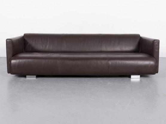 Rolf Benz 6300 Designer Leder Sofa Braun Dreisitzer Couch Echtleder
