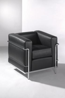 Sessel LC2 von Cassina in Leder schwarz