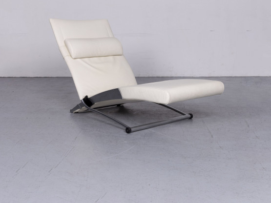 Interprofil X Chair Designer Leder Liege Creme Echtleder Stuhl 6727