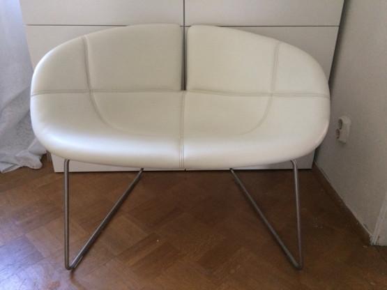 MOROSO - Fjord Sessel, Leder, cremeweiß, neuwertig