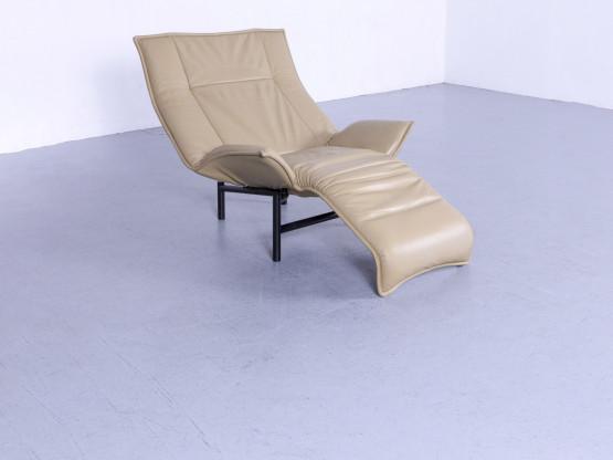 Cassina Veranda Designer Sessel Olive Beige Leder Relax Funktion #5707