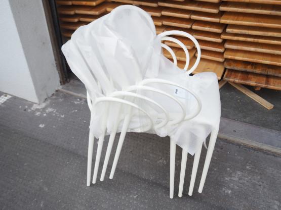 DRIADE 4er Set Stuhl Sissi weiß NEU - OUTDOOR